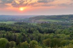 Blick von der Diedrichsburg in Richtung Oldendorf